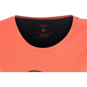 Triple2 Laag Handwrite T-Shirt Women Women living coral